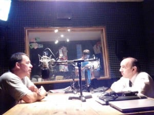 Oporto mano a mano con RDE, en los estudios de FM Lider