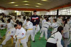 Crismanich dictó una clínica de Taekwondo