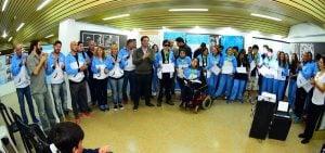 Los medallistas bonaerenses fueron agasajados en la Casa de la Cultura