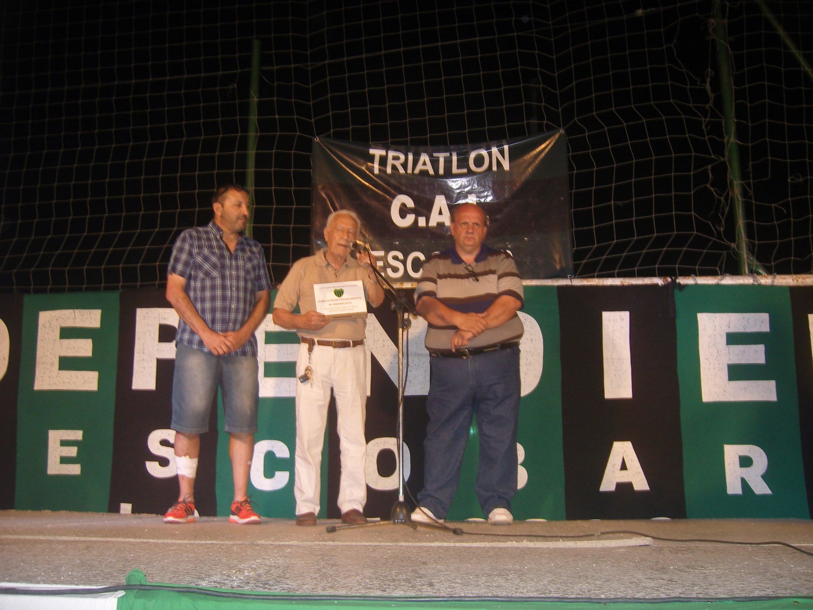 Hernando Rosso recibió un reconocimiento por su trayectoria
