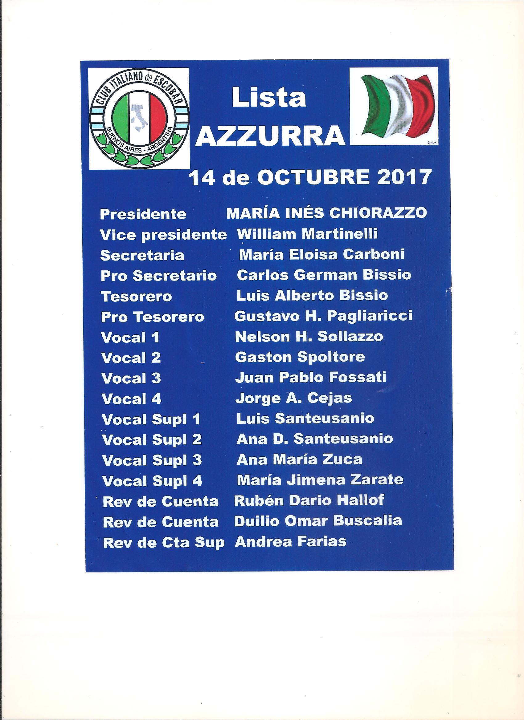 Lista AZURRA CITES