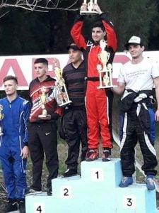 Leandro Sánchez, se subió al podio en la 4° fecha de APAK