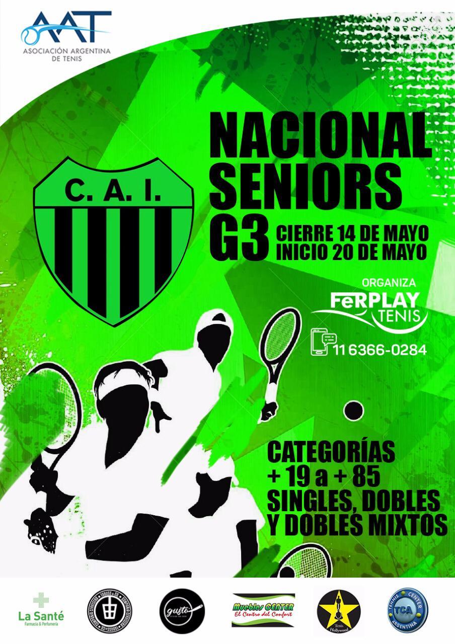 Independiente será sede del Torneo Nacional Seniors G3 de Tenis