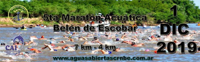 Este domingo se corre la 5° edición de la Maratón Acuática en Escobar