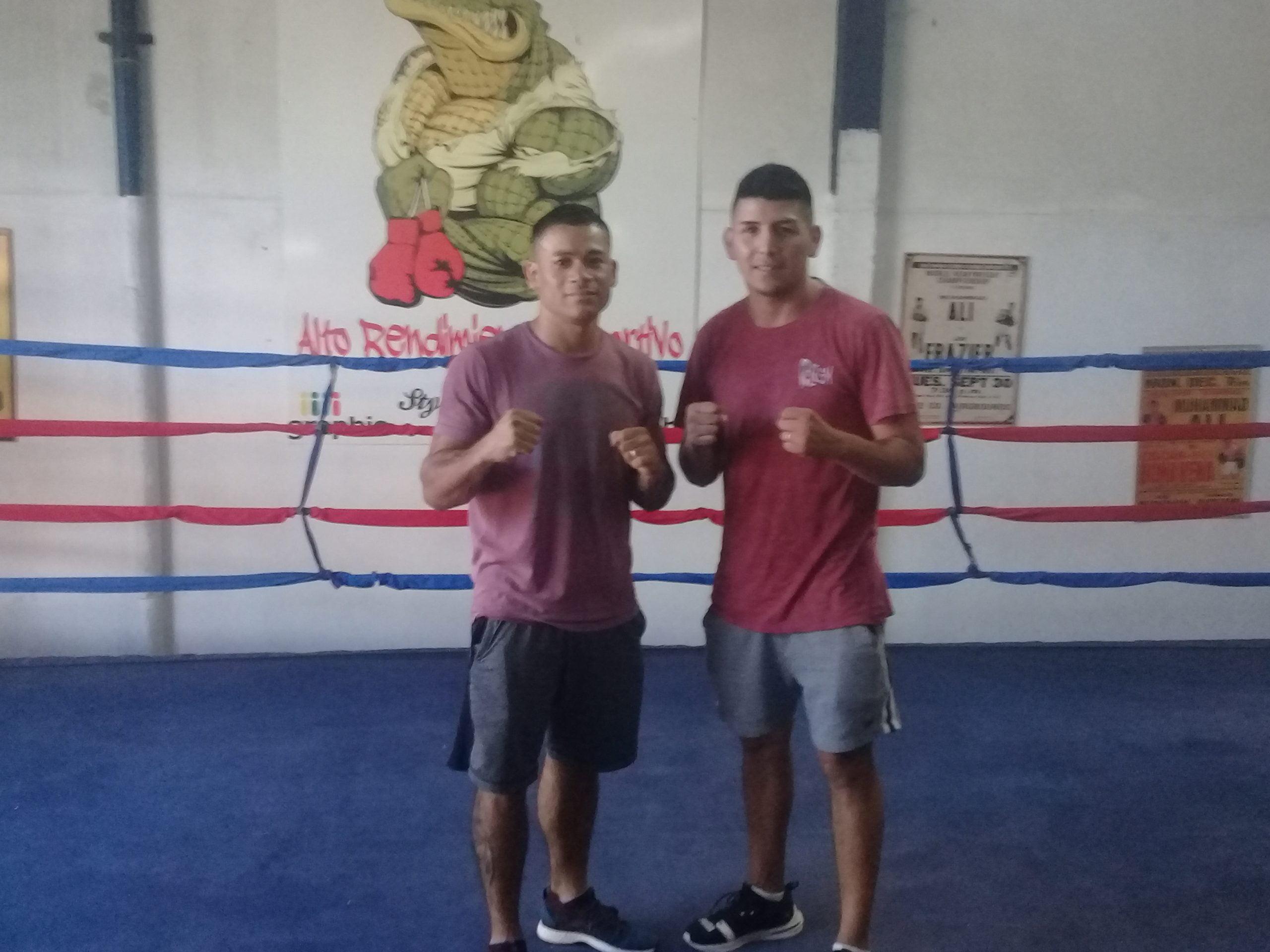 Germán Benitez y Hector Paiva comentaron sus sensaciones luego de la jornada de boxeo en el microestadio