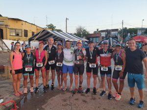Atletas escobarenses participarón en la 36° edición del triatlón de La Paz