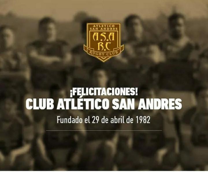 Atlético San Andrés Rugby Club cumplió 38 años
