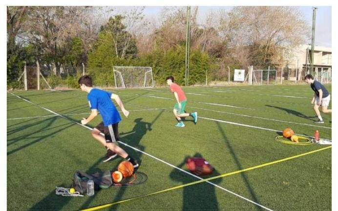 Las formativas de básquet  verdinegro ya entrenan al aire libre