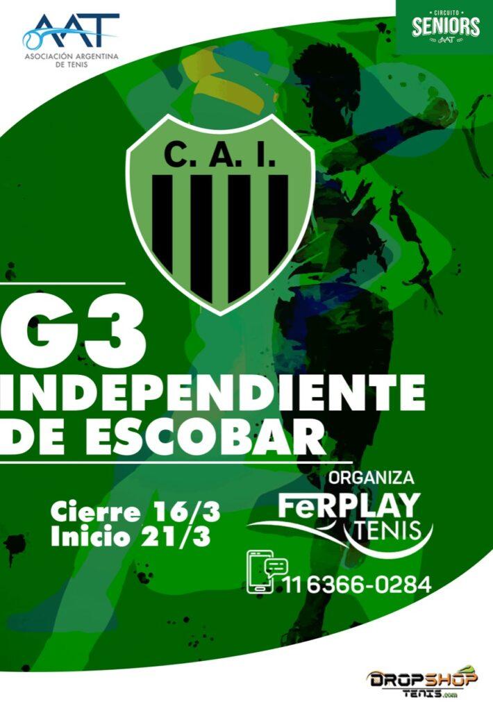 Nuevo Torneo G3 de tenis en el club Independiente