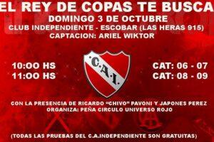 Independiente de Avellaneda realizara una prueba de jugadores