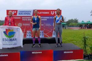 Angela Almada atleta de la escuela municipal  se consagro subcampeona nacional en 400 metros